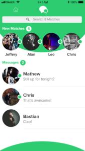 RIIVAL chat list screen